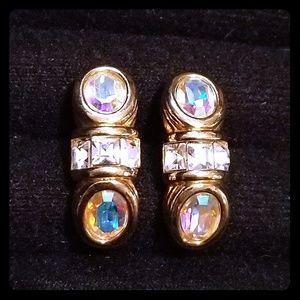 Vintage amazing Swarovski  earrings signed by swan